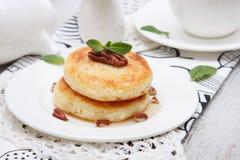Cottage cheese pancake Royalty Free Stock Photos