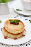 Cottage cheese pancake Stock Photography