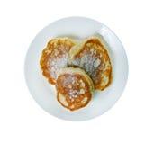 Cottage cheese pancake Royalty Free Stock Photo
