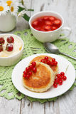 Cottage cheese pancake Royalty Free Stock Image