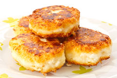 Cottage cheese pancakes Royalty Free Stock Photography