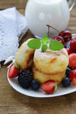 Cottage cheese pancakes (cheesecakes) Stock Images