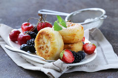 Cottage cheese pancakes (cheesecakes) Stock Photography