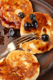 Cottage cheese pancakes Royalty Free Stock Photo