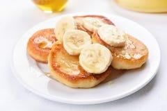 Cottage cheese pancakes Stock Photos