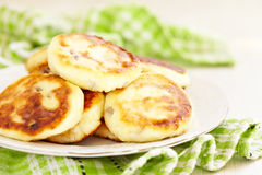 Cottage cheese pancakes with raisin Stock Photography