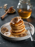 Cottage cheese pancakes Royalty Free Stock Image