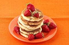Cottage cheese pancakes Stock Photography