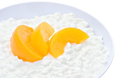 Cottage Cheese and Peaches Royalty Free Stock Image