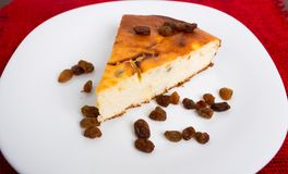 Cottage cheese pie with raisins Stock Photography