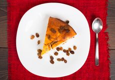 Cottage cheese pie with raisins Stock Photo