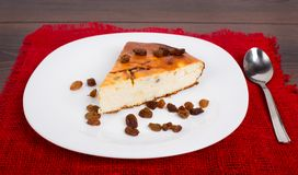 Cottage cheese pie with raisins Royalty Free Stock Photography