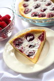 Cottage cheese pie with raspberries Royalty Free Stock Image