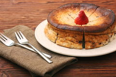 Cottage cheese pie Stock Photography