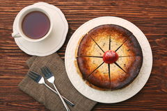 Cottage cheese pie Royalty Free Stock Images