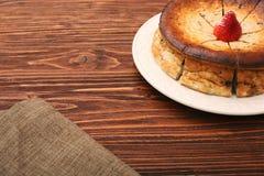Cottage cheese pie Stock Photo