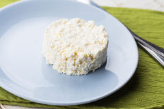 Cottage cheese on plate Royalty Free Stock Photography