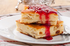 Cottage cheese pudding Stock Image