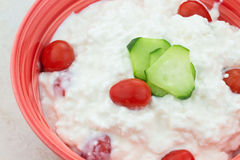 Cottage Cheese Salad Stock Photos