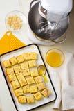Cottage cheese  semolina cake Stock Photo