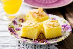 Cottage cheese  semolina cake Royalty Free Stock Photo