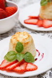 Cottage cheese souffle(casserole) Royalty Free Stock Photos
