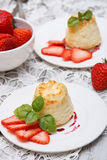 Cottage cheese souffle(casserole) Royalty Free Stock Images