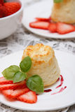 Cottage cheese souffle(casserole) Stock Image