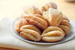 Cottage cheese and sugar cookies Stock Image