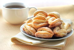 Cottage cheese and sugar cookies Royalty Free Stock Photography