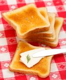 Cottage cheese toast Royalty Free Stock Photos
