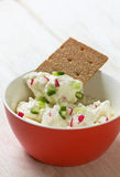 Cottage cheese with vegetables Royalty Free Stock Photography