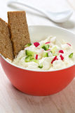 Cottage cheese with vegetables Stock Photos