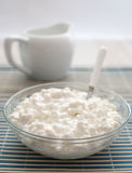 Cottage cheese vertical Stock Images