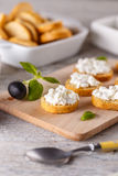 Cottage cheese with whole wheat rolls Stock Photo