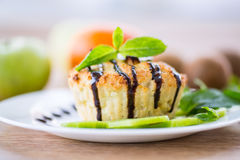 Cottage Cheese With Fruit Muffins Royalty Free Stock Images