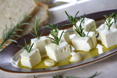 Cottage Cheese With Herbs Stock Photography