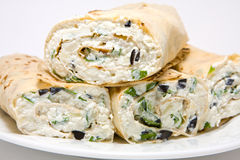 Cottage Cheese Wrap Stock Image