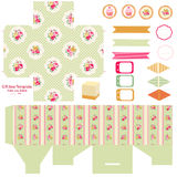 Cottage chic party set Stock Image