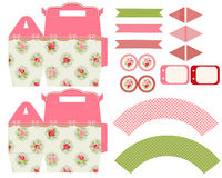 Cottage chic party set Royalty Free Stock Photos