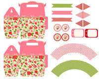 Cottage chic party set Stock Images