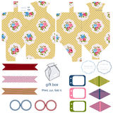 Cottage chic party set Royalty Free Stock Photo