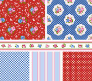 Cottage chic pattern Stock Photo