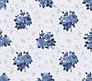 Cottage chic roses pattern Royalty Free Stock Photo