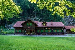 Cottage. On the City Summit in Kočevju painted beneath the trees Royalty Free Stock Images