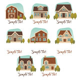Cottage collection Royalty Free Stock Photo