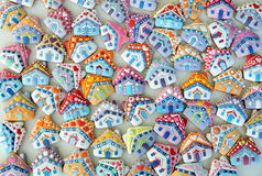Cottage   , Colorful , Unique,  Christmas  Honey Cookies Royalty Free Stock Photos