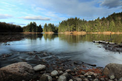 Cottage Country. View of a beautiful lake in Haliburton, Ontario royalty free stock photo
