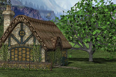 Cottage in countryside Stock Photos