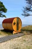 Cottage créatif sur le bord de la mer Photos libres de droits